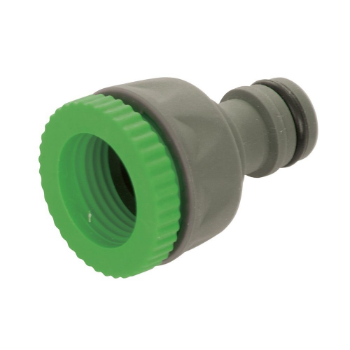 "Silverline 1/2"" & 3/4"" Male Tap Connector Plastic"